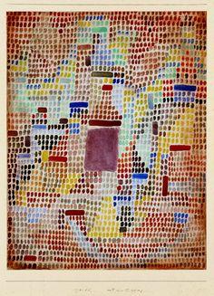 Mit dem Eingang 1931 - Paul Klee (Swizterland, 1879-1940)