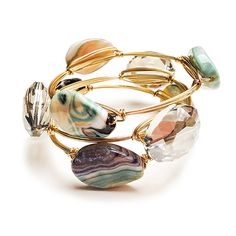 How To: Make Wire Bangles with Wraps | http://www.artandsoulbeads.com/store/blog/make-wire-bangles-wraps/