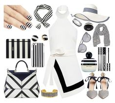 """Holy Stripe"" by rileyadewitt ❤ liked on Polyvore featuring Dolce&Gabbana, Finders Keepers, J.Crew, MICHAEL Michael Kors, Kate Spade, Évocateur, Marc Jacobs, Givenchy, Two's Company and Monies"