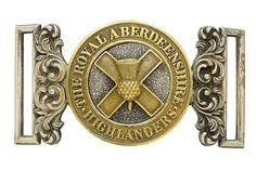 Badge. Scottish. Royal Aberdeenshire Highlanders Militia Officer's waist belt clasp circa 1858-81