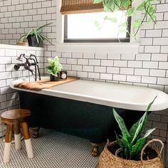 Sunday kind of mood. Downstairs Bathroom, Bathroom Renos, Bathroom Interior, White Bathroom, Small Bathroom, Modern Boho Bathroom, Bathroom Ideas, Small Vintage Bathroom, Earthy Bathroom