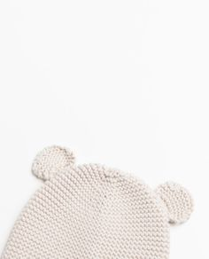 KNIT HAT WITH EARS from Zara