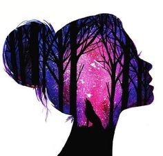 Fabulous Silhouette Painting by Danielle Foye. UK based self employed artist Danielle Foye, has an eye for creating a wide range of watercolor paintings and designs. Cute Wallpaper Backgrounds, Pretty Wallpapers, Colorful Wallpaper, Galaxy Wallpaper, Wallpaper Art, Art Drawings Sketches, Cute Drawings, Artist Painting, Watercolor Paintings