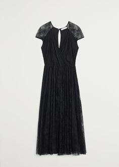 Mango, Black Lace Midi Dress, Wishlist Shopping, Lace Fabric, Short Sleeve Dresses, Interesting Stuff, Products, Fashion, Black Gowns
