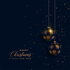 affiche noel Premium golden chrstimas balls on dark background Free Vector Christmas Poster, Christmas Mood, Noel Christmas, Christmas Wishes, Christmas And New Year, Christmas Dance, Dark Backgrounds, Wallpaper Backgrounds, Plant Wallpaper