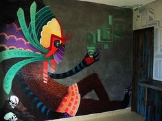 Streetart based on mexican culture