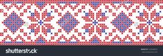 embroidered cross-stitch pattern Ukrainian national