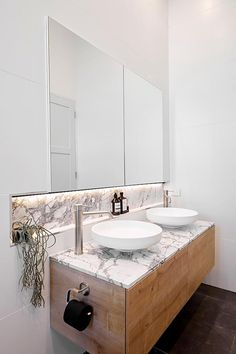 The Block 2018 ensuite reveal: Norm and Jess' ensuite with marble and timber vanity. Bathroom Inspo, Bathroom Inspiration, Bathroom Ideas, Bathroom Furniture, Bathroom Interior, Timber Vanity, Design Rustique, Deck, Bad Inspiration
