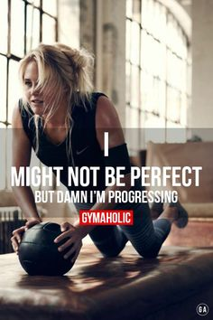 "gymaaholic: "" I might not be perfect. But damn I'm progressing ! http://www.gymaholic.co """