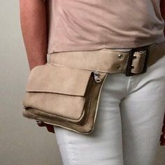 Bohemian Hip Bag Leather and Canvas Fanny Pack Bohemian Leather Fanny Pack, Black Leather Belt, Leather Men, Brown Leather, Leather Tassel, Leather Backpack, Big Tote Bags, Mini Bags, Laptop Rucksack