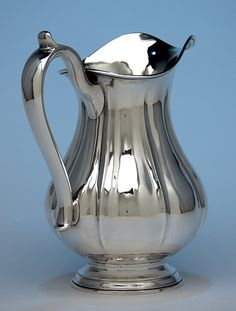 Arthur Stone Associates Sterling Silver 'Fluted' Water Pitcher, c. 1930's