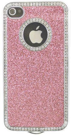 Pink Sparkle & Diamond iPhone 5 Case