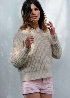 sweater weather is still aways away; but maybe it's time to start knitting one?  Sweater by Acne.
