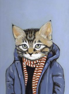 Reminds me of Nort. Love this Etsy artist... do animals in clothes ever get old? I think not.
