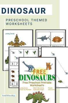 Looking for some colorful dinosaur preschool worksheets for your kiddos to use? Then this hands-on, jam-packed pack is what you need!