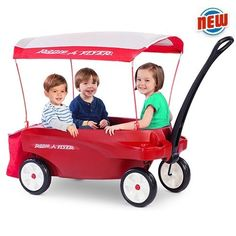 Radio Flyer Triple Play Deluxe WagonTM by Radio Flyer 5.0 out of 5 stars Price:$260.00 Note: $22.49 shipping when purchased from Academic Science Books.Not eligible for Amazon Prime. Only 3 left in stock. Ships from and sold by Academic Science Books. Seats 3 - perfect for family, friends & neighbors Removable UV protection canopy 3 sets of seatbelts for safety 4 child and 2 adult cup holders