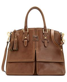 113b1d88bade Dooney & Bourke Florentine Clayton Satchel & Reviews - Handbags &  Accessories - Macy's