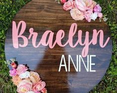 Painted Name Signs, Wood Name Sign, Wood Signs, Nursery Name, Nursery Signs, Girl Nursery, Nursery Room, Baby Name List, Baby Name Signs
