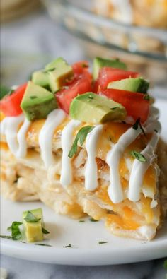 Chicken Tortilla Stack - Great recipe, tastes like a layered chicken quesadilla. Maybe try adding green chili next time. Serve with salsa
