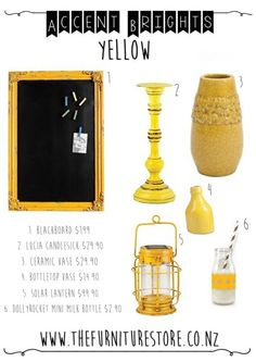 Trending Interior Decor   Accent Brights   Eclectic Brights   Sunshine  Yellow   The Furniture Store
