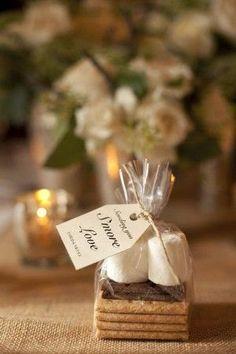 Smores wedding favor   Weddings zone