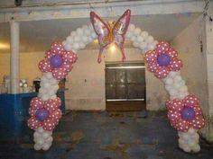 Arco de globos con mariposa. #princess party #balloon #arch