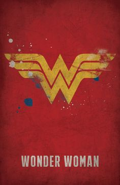 DC Comics Minimalist Posters by West Graphics - Wonder Woman