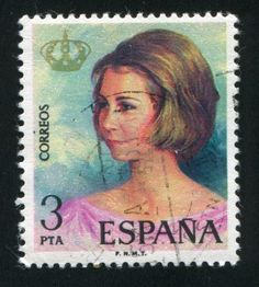 Queen Sofia (Spain), circa 1975.  Sophia of Greece and Denmark now Queen Sofia of Spain