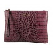 Coccinelle AW 2014 Large Burgundy Croc Pouch