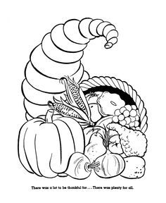 Have fun coloring this beautiful Thanksgiving picture of a