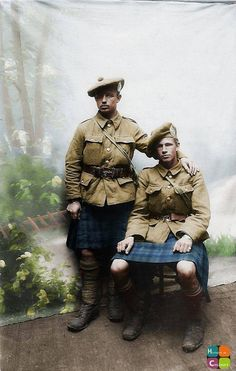 Argyll and Sutherland Highlanders during the First World War.