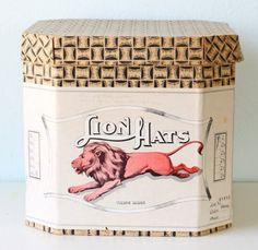 vintage lionhats hat box