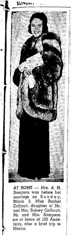 Barney Sampson page 51 of: San Antonio Express March 17, 1940