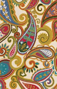 Gorgeous, love the paisley and the colors!  May be a good change in the bedroom as the summer rug.  Would be a great pop of color and I have all these colors of sheets!