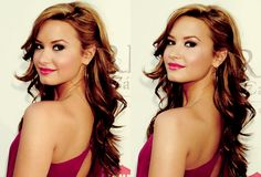 Demi Lovato ... makes me want to grow my hair out more!