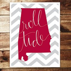 Good craft idea! Chevron background, solid color for your state. Doesn't necessarily have to say something about sports in it.