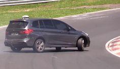 BIG BMW 2er Gran Tourer DRIFT & Skills Nordschleife Nürburgring Touristenfahrten almost crash - YouTube