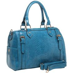 TALIA Faux Crocodile Print Top Double Handle Bowling Style Office Tote Satchel Handbag Purse Shoulder Bag on amazon today for just $35.50 & eligible for FREE Super Saver Shipping find us on facebook here https://www.facebook.com/pages/Amazon-Deals-Shoes-and-Handbags/358750670897040?ref=stream