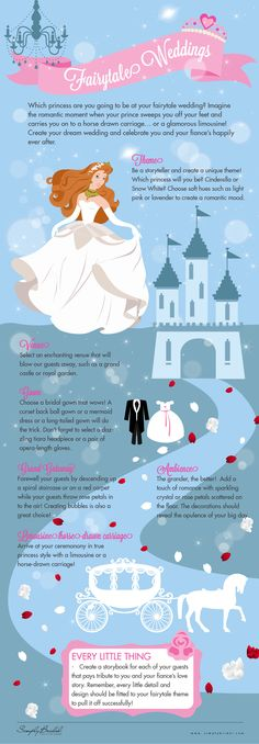 Choosing a theme is the first step in making your dream wedding come to life. Celebrate your own enchanted romance by having a fairytale-themed wedding!