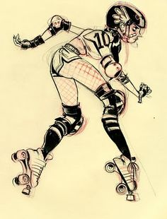 my two roller girls allygator and hawtsauce