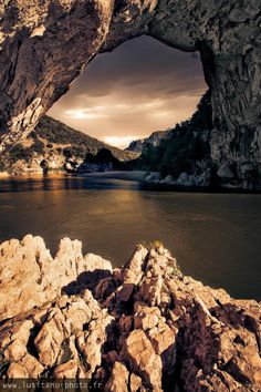 """A different view of such a popular piece of France """"Vallon Pont d'arc- Ardèche """" France"""