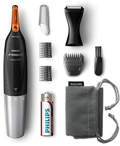 Amazing offer on Philips Norelco Nose Hair Trimmer Washable Mens Precision Groomer Nose, Ears, Eyebrows, Neck, Sideburns online - Tophitsapparel Eyebrow Trimmer, Nose Hair Trimmer, Body Shaver, Mens Pomade, Remove Unwanted Facial Hair, How To Trim Eyebrows, Sideburns, Beard Trimming, Beards