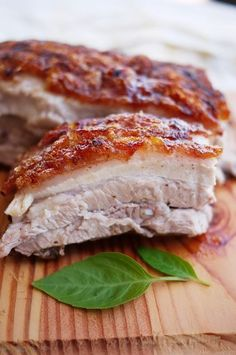Chinese Style Crispy Pork Belly, this is real similar to a Danish dish served with creamed parsley new potatoes.