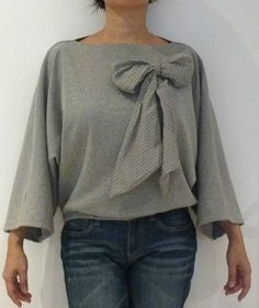 couture super simple. Sweat aux manches kimono