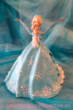 Taart 'Frozen - Elsa' - detail