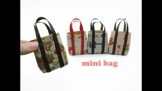 DIY Miniature Doll Mini Tote Bag - Very Easy !