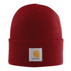 97d03565913 Carhartt Rib Knit Acrylic Watch Hat - A18-DARK CRIMSON-OFA. CarharttKnit Hat  For MenRib ...
