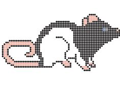 Rat perler bead pattern made by me