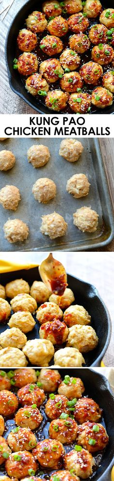 You Have Meals Poisoning More Normally Than You're Thinking That Add Some Zing To Your Meatballs And Make A Homemade Kung Pao Sauce With 100 Clean Eating Ingredients Everyone Will Love These Kung Pao Chicken Meatballs. Clean Eating Recipes, Healthy Eating, Cooking Recipes, Healthy Recipes, Healthy Snacks, Turkey Recipes, Chicken Recipes, Dinner Recipes, Meatball Recipes