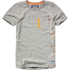 Vingino boys t-shirt hugo gray - Schweigmann - . Mens Polo T Shirts, Denim Shirt Men, Shirts For Girls, Shirt Print Design, Shirt Designs, Diy Summer Clothes, T Shirts With Sayings, My T Shirt, Printed Shirts